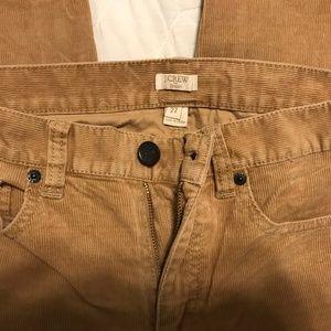 J. Crew Beige Corduroy Pants in Toothpick Size 27
